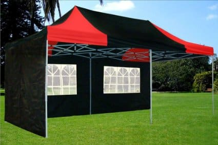 10u0027x20u2032 Pop up 6 Wall Canopy Party Tent Gazebo Ez Black/Red u2013 F Model Upgraded Frame by DELTA Canopies u2013 Best Pop Up Canopy Tent 2018 : pull up canopy - memphite.com