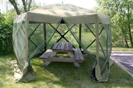 Clam Corporation 9281 Quick-Set Escape Shelter, 140 X 140-Inch, Forest Green.jpg