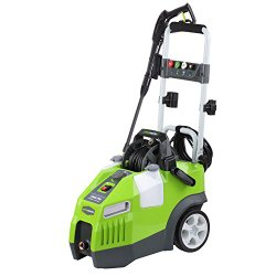 GreenWorks GPW1950 1,950 PSI 1.2 GPM Quiet Motor Electric Pressure Washer with Hose Reel