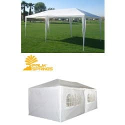 Palm Springs 10 X 20 White Party Tent Gazebo Canopy with Sidewalls  sc 1 st  Reviews by Expert & Top 10 Best Pop Up Canopy Tent 2018 - DO NOT Buy Before Reading!